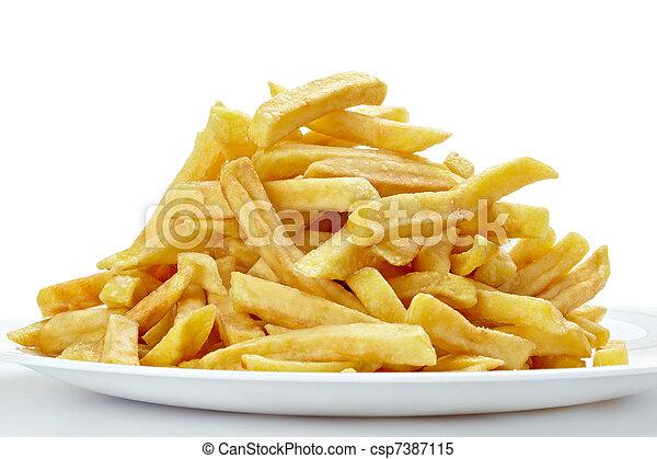 nourriture, jeûne, malsain, frire, francais - csp7387115