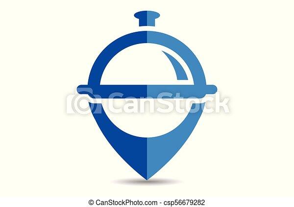 nourriture, logo, emplacement, restaurant - csp56679282