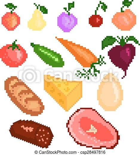 Nourriture Pixelart