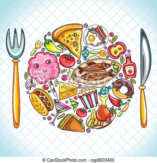 nourriture, plaque - csp8633400