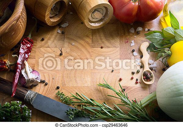 nourriture, recettes, art - csp29463646