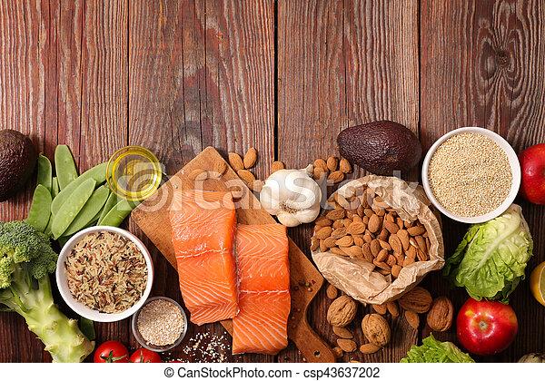 nourriture saine, composition - csp43637202