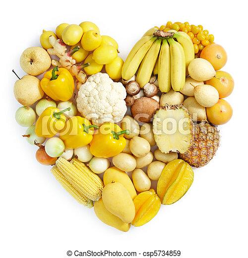 nourriture saine, jaune - csp5734859