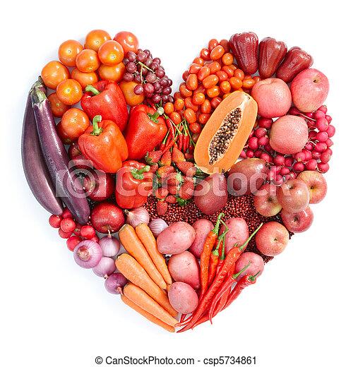 nourriture saine, rouges - csp5734861