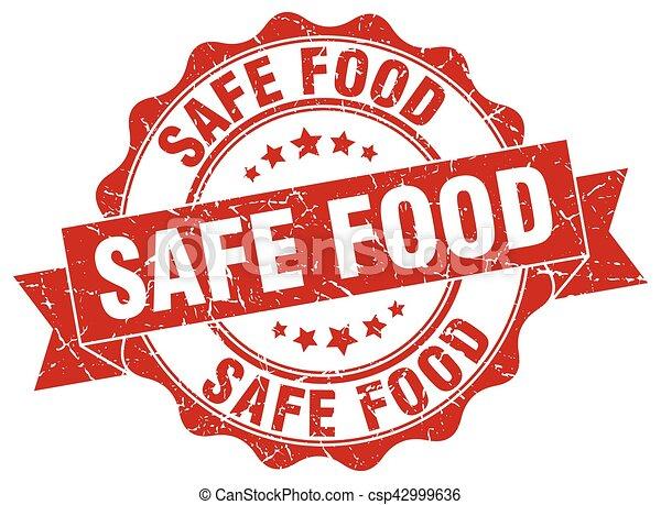 nourriture, signe., sûr, stamp., cachet - csp42999636