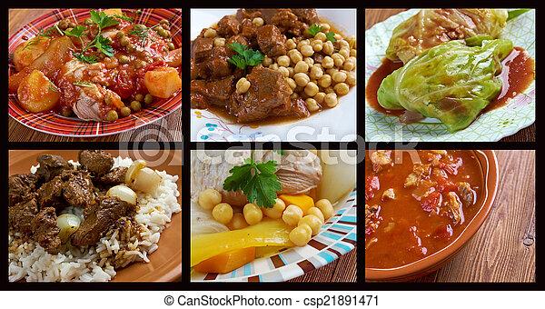 Nourriture Traditionnel Ensemble Cuisine Africaine Nourriture