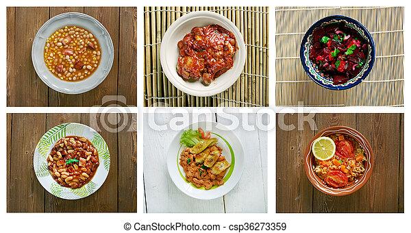 Nourriture Traditionnel Ensemble Cuisine Africaine Images
