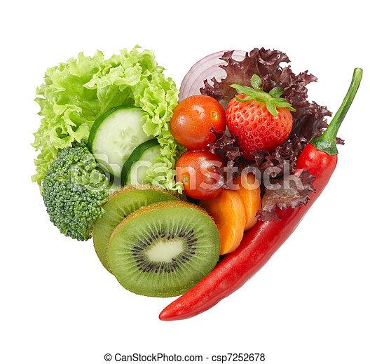 nourriture, végétarien, amour - csp7252678