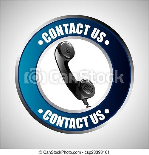 nous contacter, conception - csp23393161
