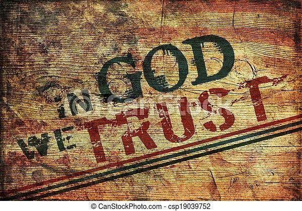 nous, dieu, confiance - csp19039752