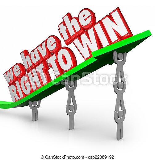 nous, droit, reussite, fonctionnement, gagner, ensemble, avoir, équipe, but - csp22089192