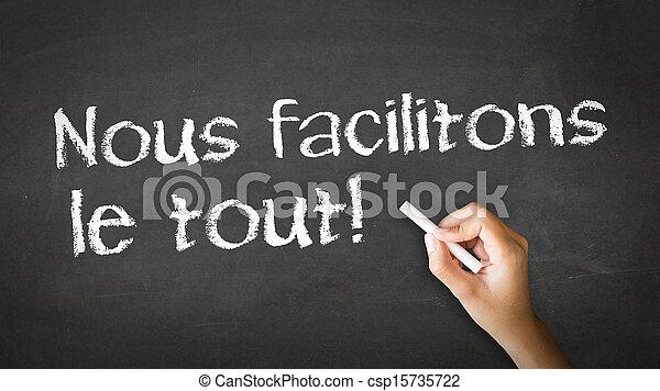 Nous Facile Faire Il French In Nous Pointage Faire Il Illustration Craie Personne Facile Dessin Canstock
