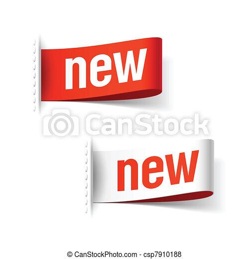 nouveau, étiquettes - csp7910188