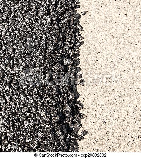 nouveau, asphaltez route - csp29802802