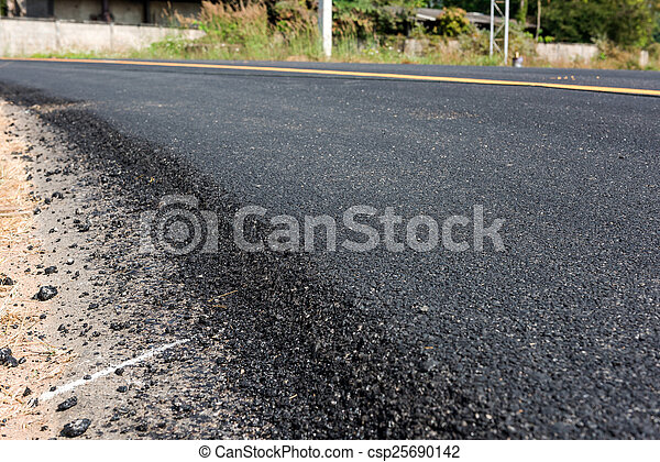 nouveau, asphaltez route - csp25690142