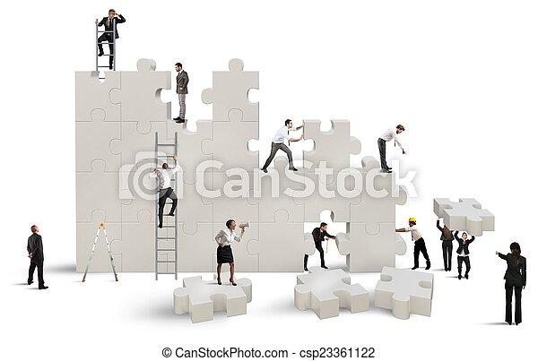 nouveau, compagnie, construire - csp23361122