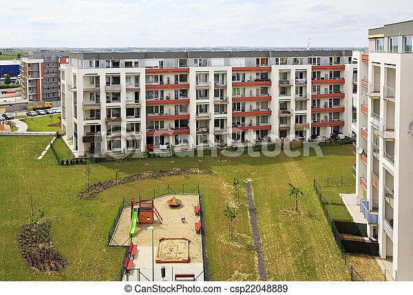 nouveau, complexe, prague., résidentiel - csp22048889