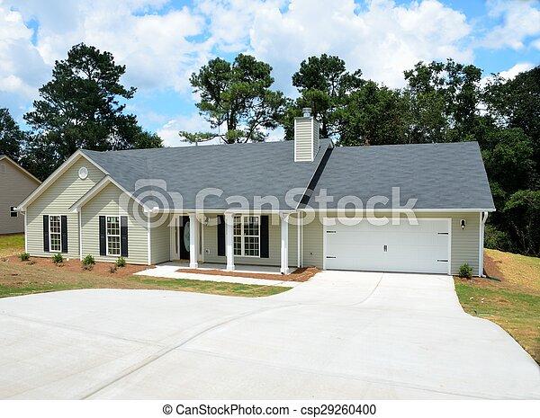 nouveau, construction, maison - csp29260400