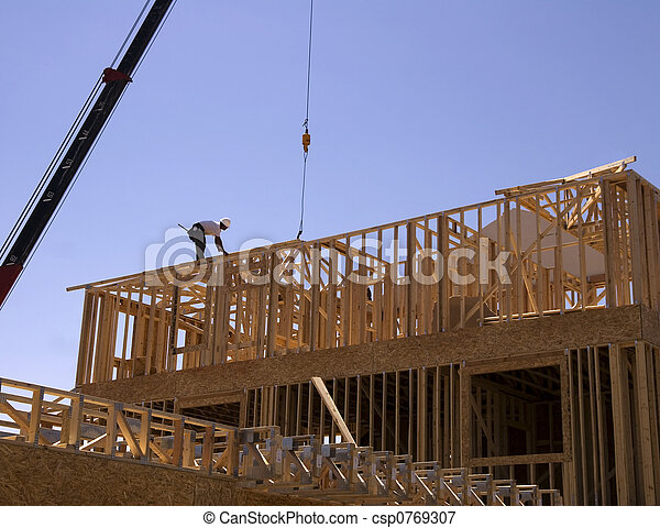 nouveau, construction, maison - csp0769307