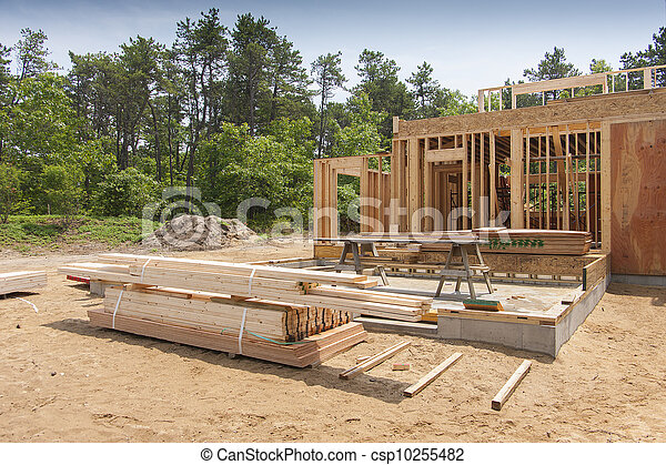 nouveau, construction, maison - csp10255482