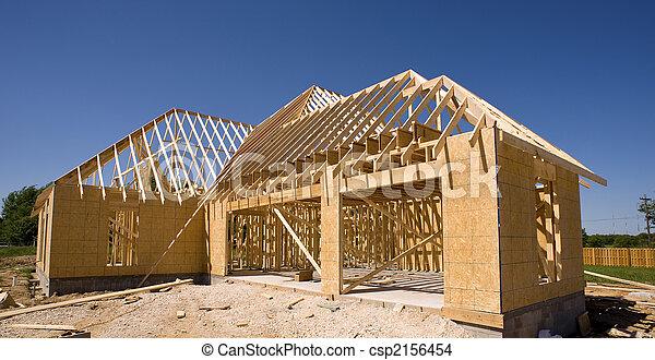 nouveau, construction, maison - csp2156454