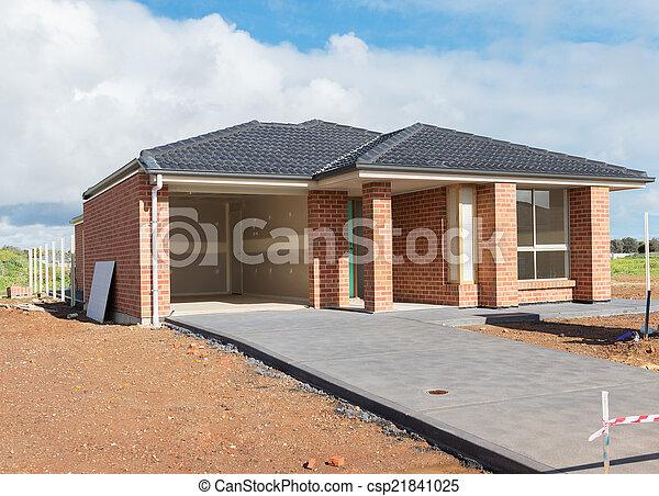 nouveau, construction, maison - csp21841025