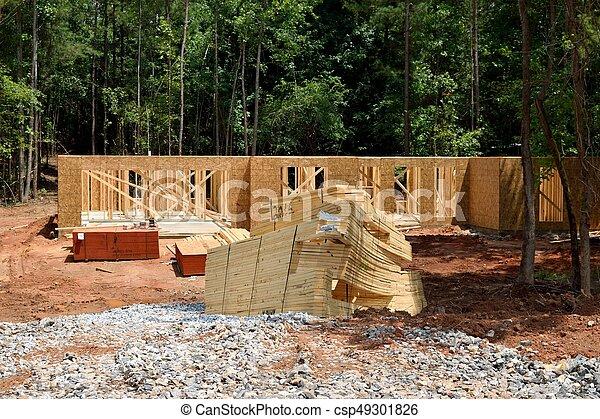 nouveau, construction, maison - csp49301826