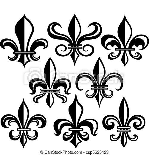nouveau, de, lis, fleur, orléans - csp5625423