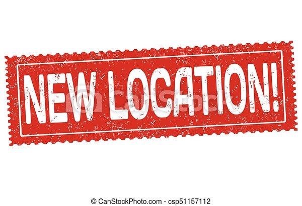 nouveau, emplacement, timbre, grunge, caoutchouc - csp51157112