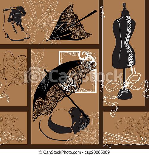 Nouveau fashion background - csp20285089