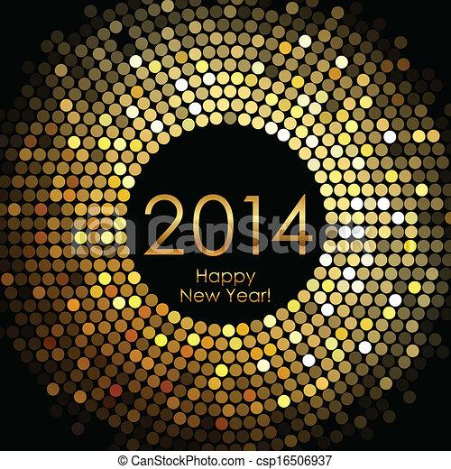 nouveau, heureux, 2014, année - csp16506937