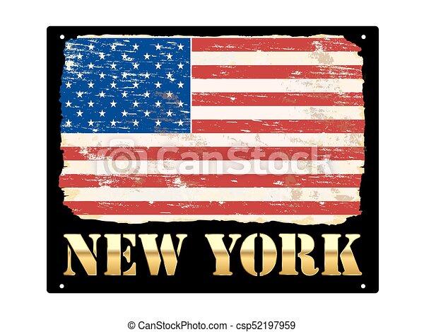nouveau, or, york, émail, signe - csp52197959