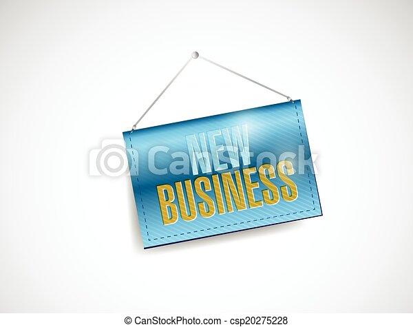nouveau, pendre, illustration affaires, signe - csp20275228