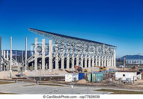nouveau, site, football, construction - csp77829039