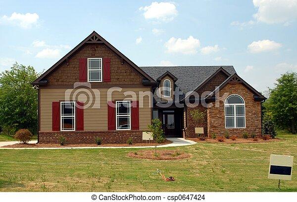 nouveau, vente, maison - csp0647424