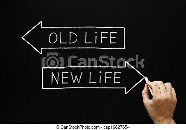 nouvelle vie, vieux, ou - csp16827654