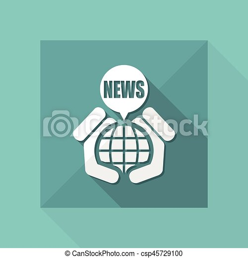 nouvelles, icône - csp45729100