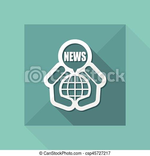 nouvelles, icône - csp45727217