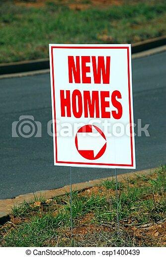 nouvelles maisons, signe - csp1400439