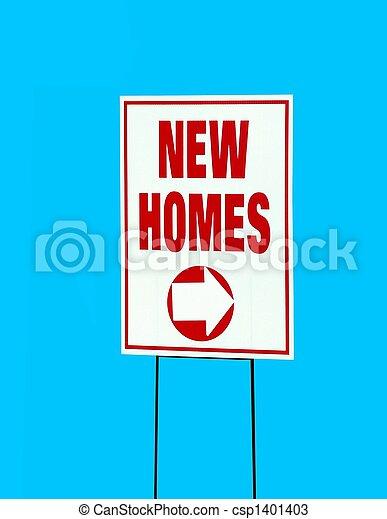 nouvelles maisons, signe - csp1401403