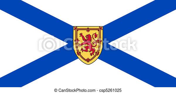 Nova Scotia state flag - csp5261025