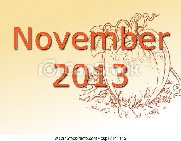 November 2013 - csp12141145