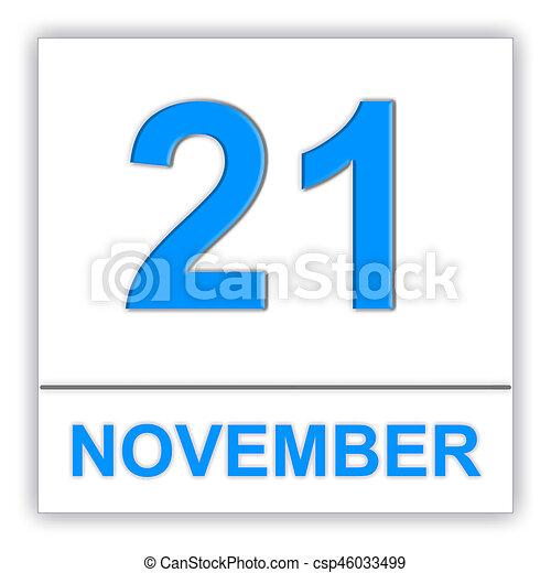 november 21 day on the calendar 3d illustration rh canstockphoto com november 2014 calendar clipart november 2016 calendar clipart