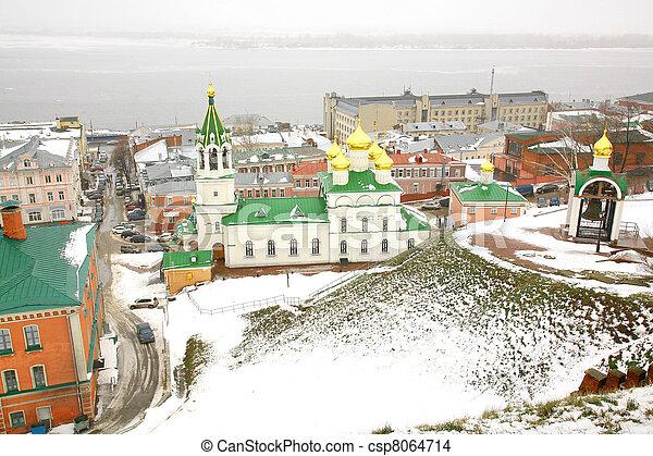 November view John the Baptist Church Nizhny Novgorod Russia - csp8064714