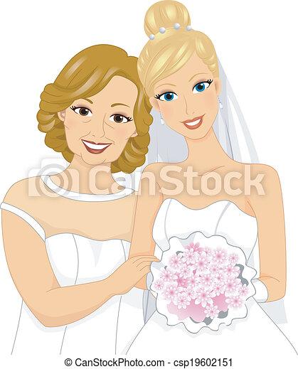 La novia y mamá - csp19602151