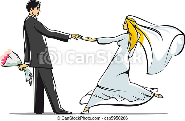 La novia y el novio - csp5950206