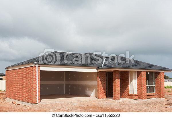 novo, construção, lar - csp11552220