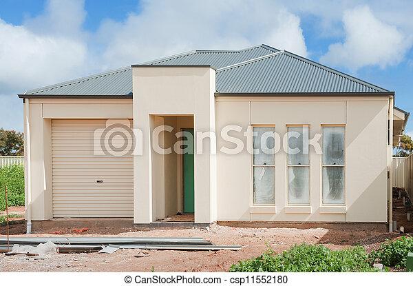novo, construção, lar - csp11552180