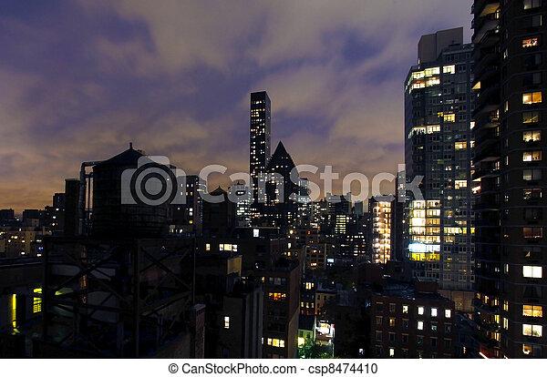 novo, edifícios, york, cidade - csp8474410