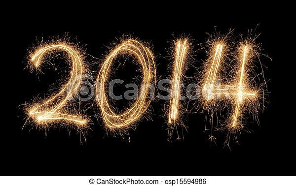 novo, feliz, 2014, ano - csp15594986